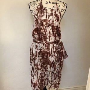 New Ann Taylor silk halter dress
